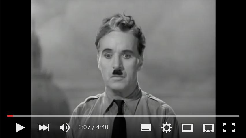 Der große Diktator - Charlie Chaplins Schlussrede