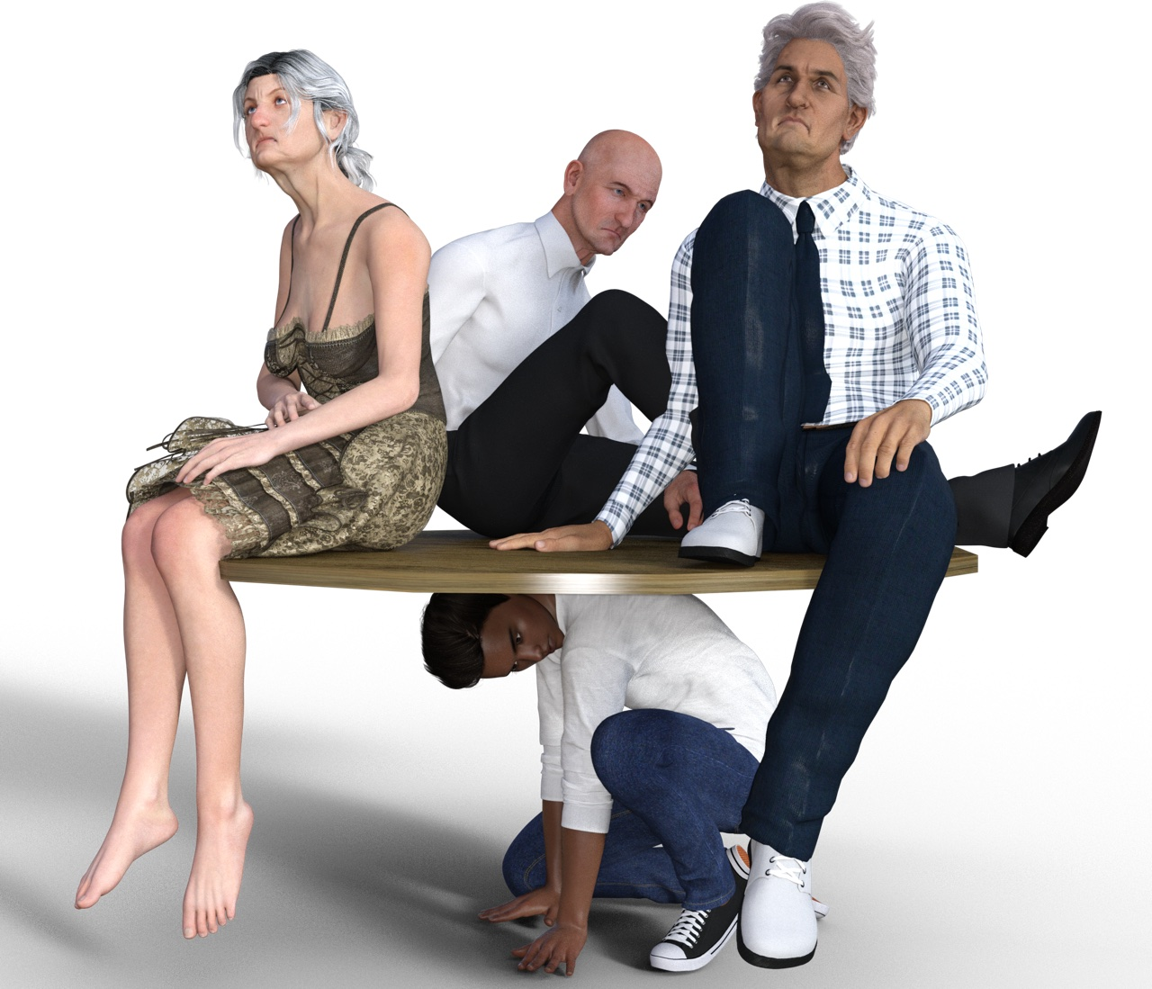 Die Rente 2030 wie sie oft dargestellt wird: Wenige tragen die Last und sind überfordert